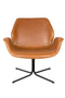 Brown Leather Butterfly Swivel Chair | Zuiver Nikki | dutchfurniture.com