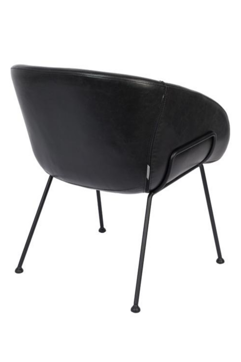 Black Leather Lounge Chair | Zuiver Feston | dutchfurniture.com