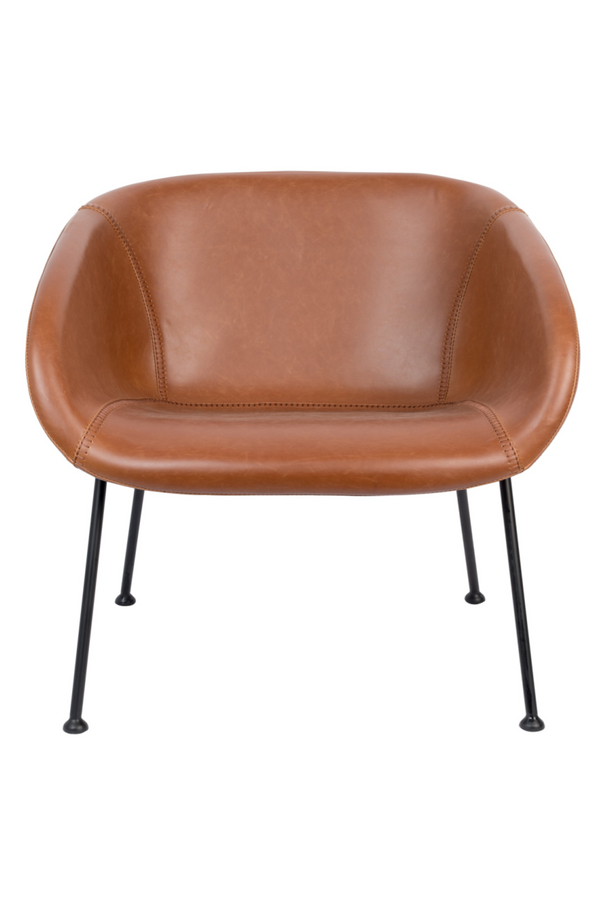 Brown Leather Accent Chair | Zuiver Feston | dutchfurniture.com