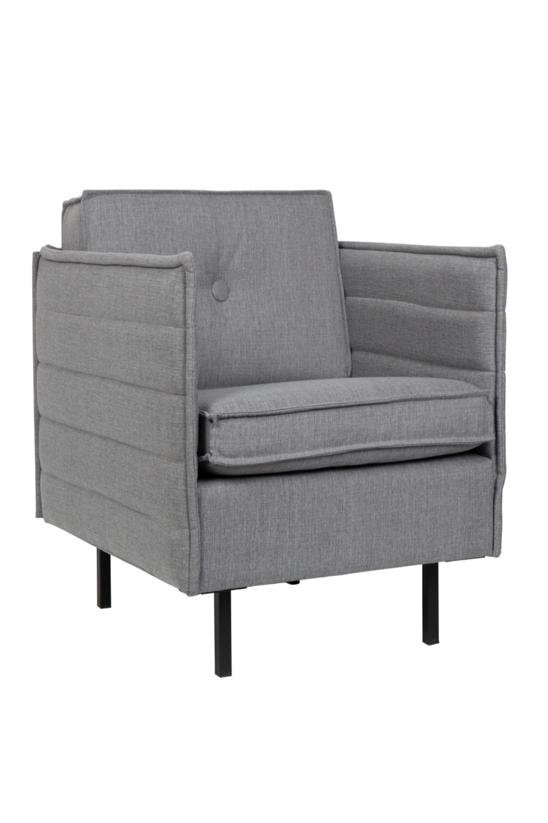 Light Gray Upholstered Lounge Chair | Zuiver Jaey | DutchFurniture.com