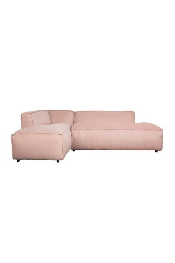 Pink Upholstered Left Sectional Sofa | Zuiver Fat Freddy | DutchFurniture.com