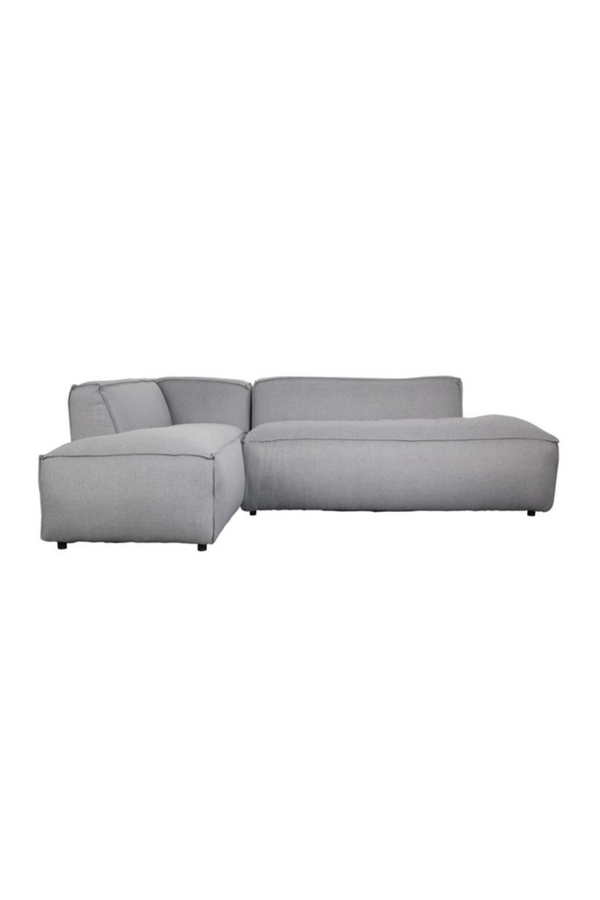 Light Gray Upholstered Left Sectional Sofa | Zuiver Fat Freddy | DutchFurniture.com