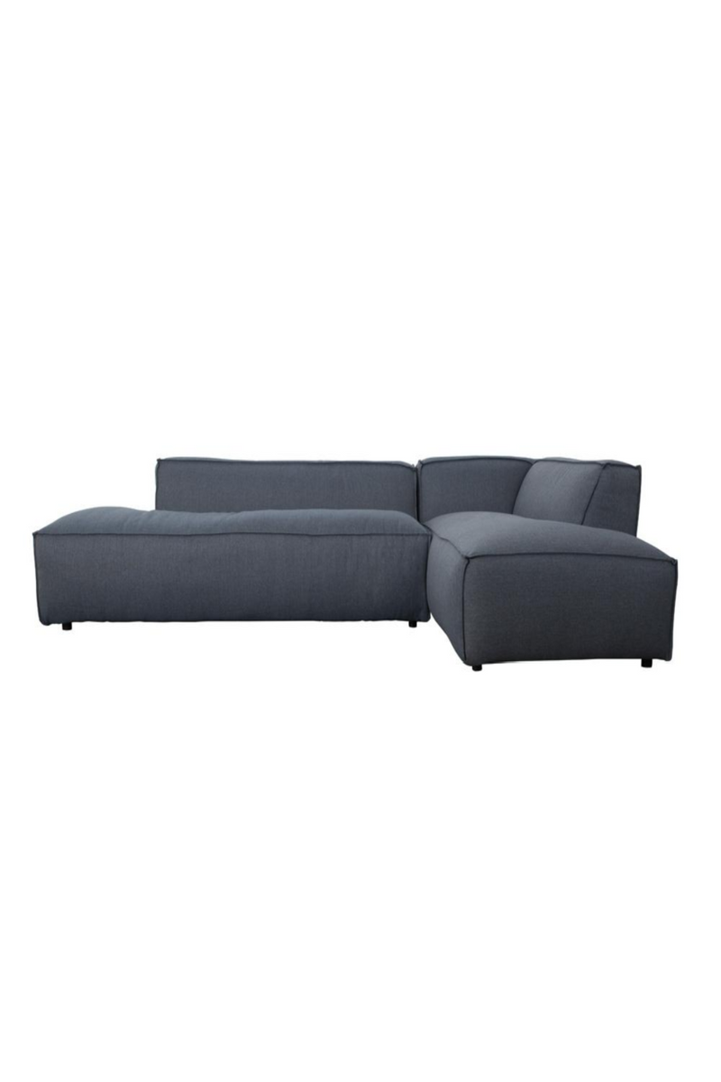 Blue Upholstered Right Sectional Sofa | Zuiver Fat Freddy | DutchFurniture.com