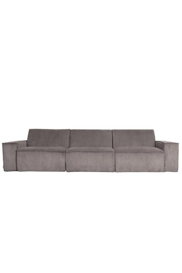 Gray Ribbed Upholstery 3-Seater Sofa | Zuiver James | dutchfurniture.com