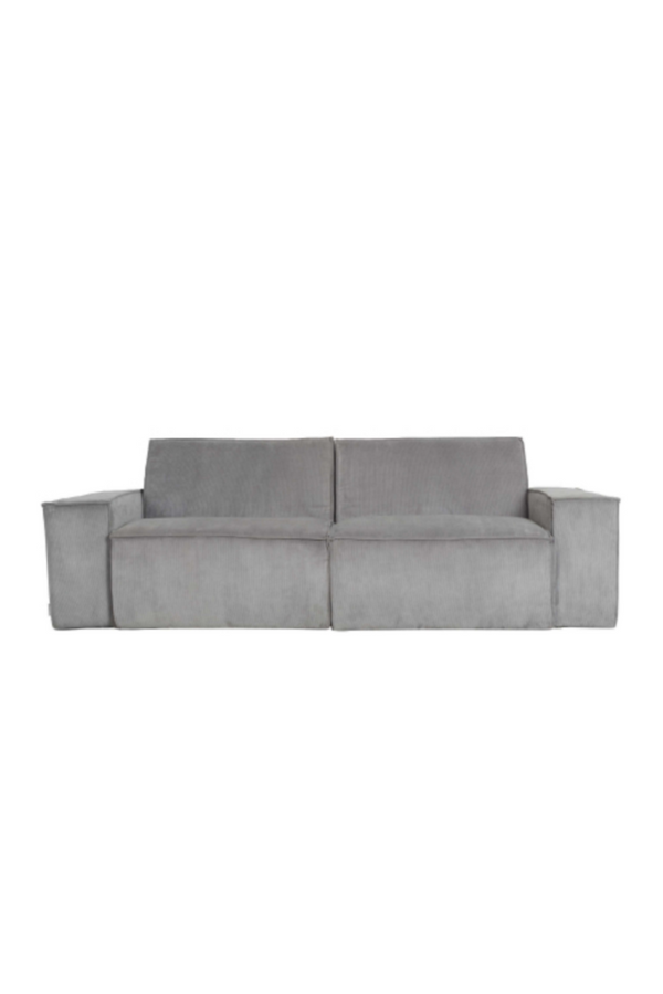 Gray Ribbed Upholstery 2-Seater Sofa | Zuiver James | DutchFurniture.com