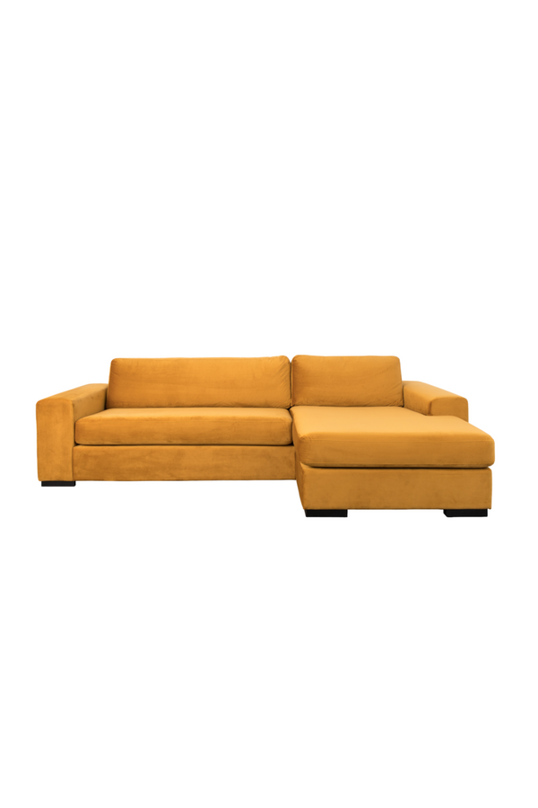 Amber Velvet Right Sectional Sofa | Zuiver Fiep | DutchFurniture.com