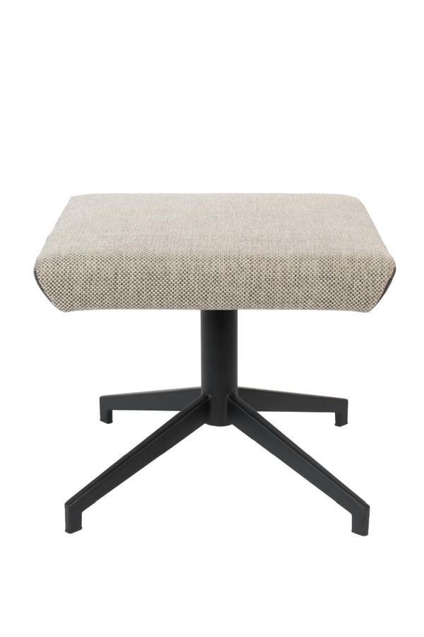 Light Gray Upholstered Ottoman | Zuiver Uncle Jesse | DutchFurniture.com
