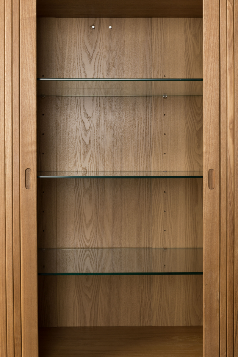 Tambour Sliding Doors Cabinet | Zuiver Barbier | DutchFurniture.com