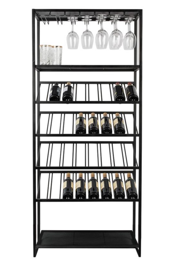 Black Metal Wine Rack | Zuiver Cantor | DutchFurniture.com