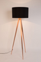 Black Metal Floor Lamp | Zuiver Tripod Copper | DutchFurniture.com