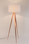 White Metal Floor Lamp | Zuiver Tripod Copper | dutchfurniture.com