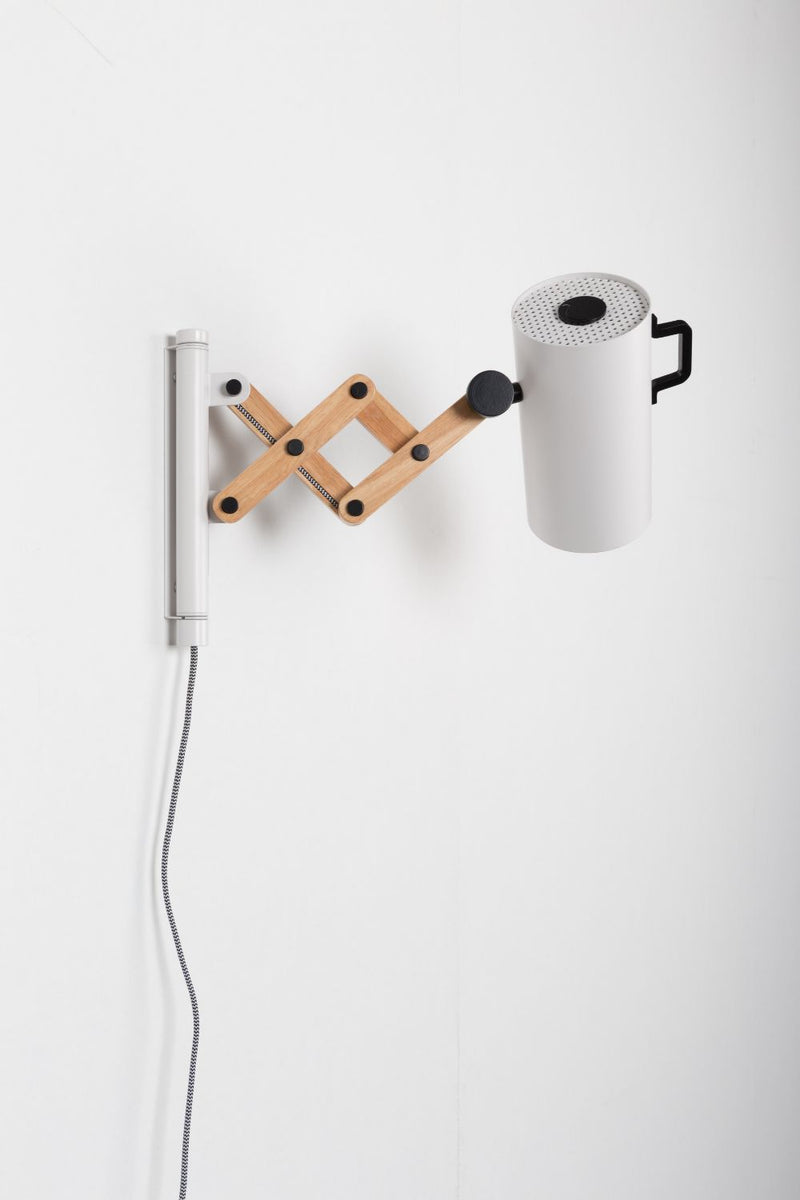 White Adjustable Wall Lamps (2) | Zuiver Flex | dutchfurniture.com