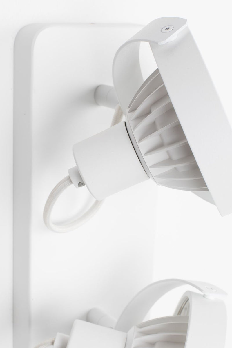 White 2-Spotlight Ceiling Lamp | Zuiver Dice | dutchfurniture.com