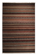 Dark Tribal Pattern Area Rug 5' X 7'5"