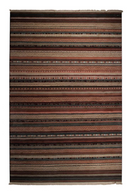 "Dark Tribal Pattern Area Rug 6'5"" X 9'5"" 