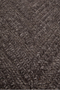 Dark Brown Cable Knit Area Rug 5' X 7'5"