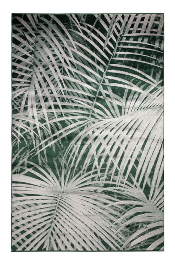 Green Botanical Area Rug 5' X 7'5"