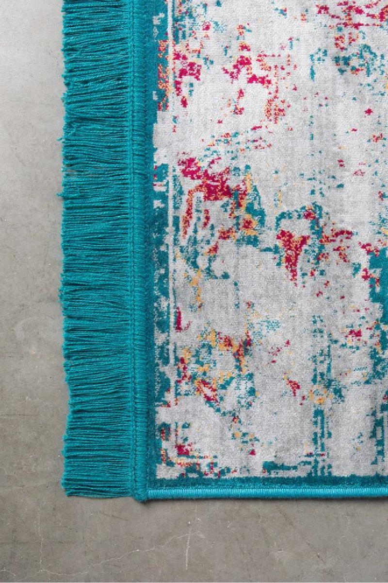 Rectangular Fringe Area Rug 5' X 7'5"