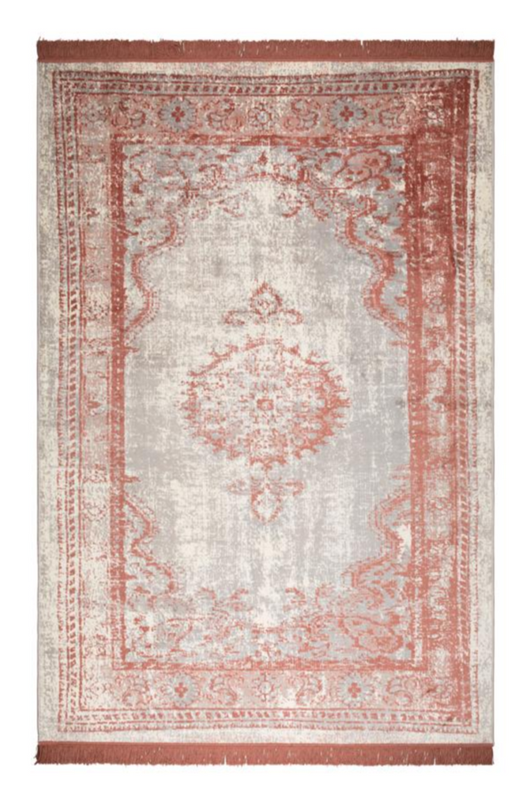 Blush Fringe Area Rug 5' X 7'5"