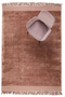 Rectangular Blush Area Rug 5' X 7'5"