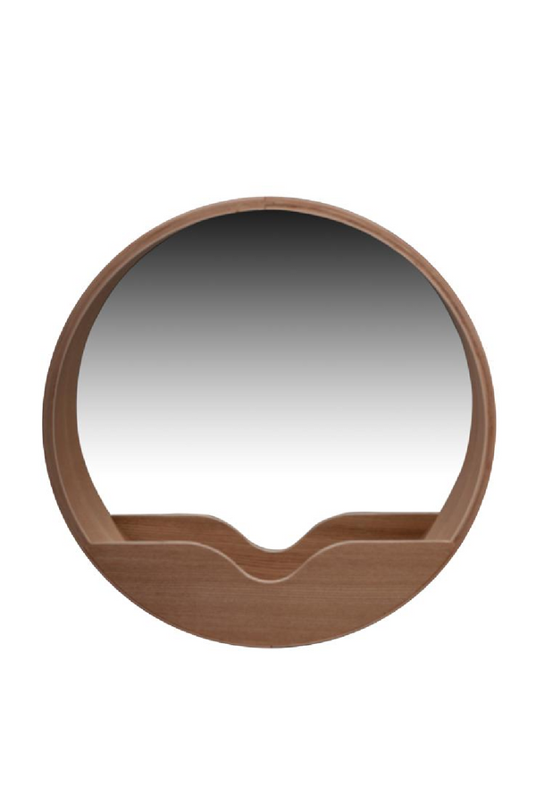 Rounded Storage Wall Mirror | Zuiver Round Wall '40 | DutchFurniture.com
