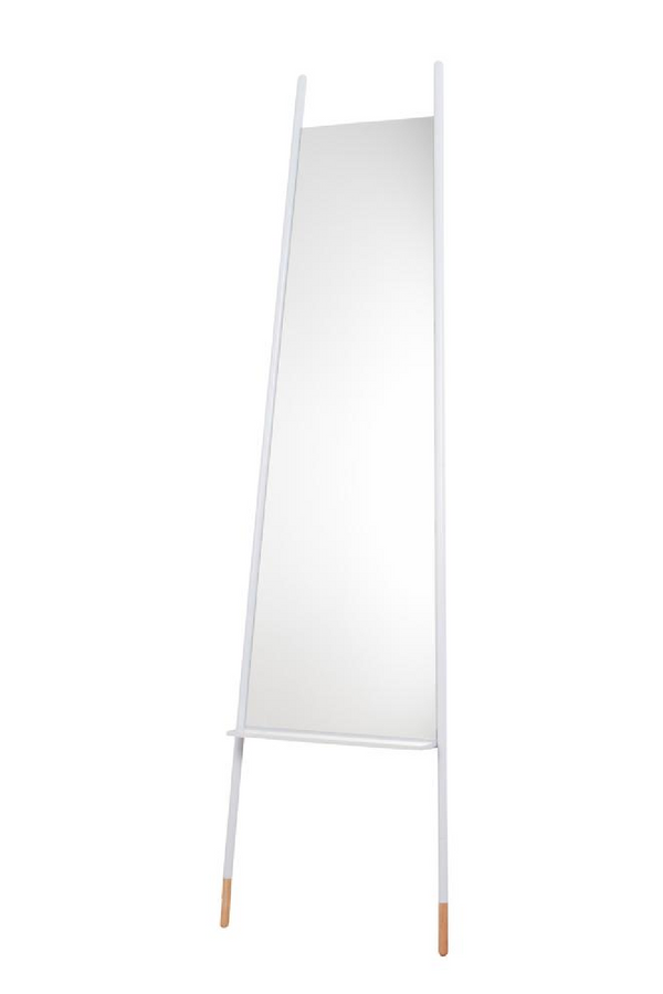 White Full Length Mirror| Zuiver Leaning | dutchfurniture.com