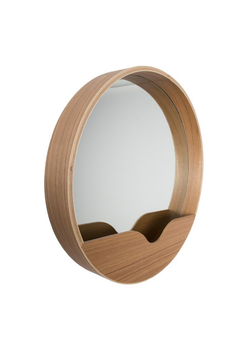 Rounded Storage Wall Mirror | Zuiver Round Wall '60 | DutchFurniture.com