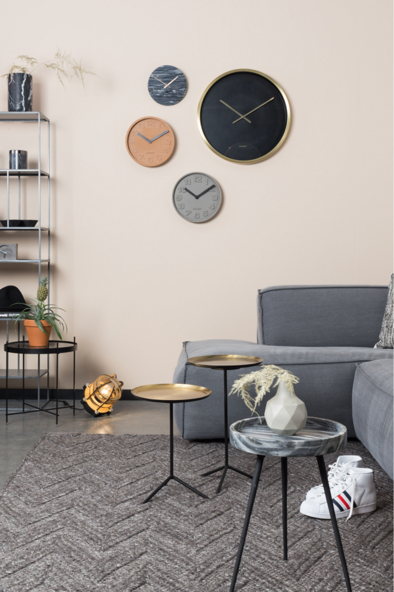 Black Round Wall Clock | Zuiver Time Bandit | DutchFurniture.com