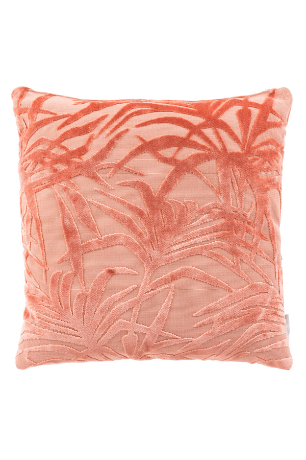 Pink Leaf Pattern Pillows (2) | Zuiver Miami | Dutchfurniture.com