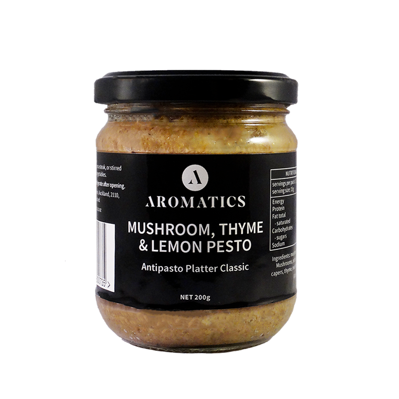 Load image into Gallery viewer, Aromatics Mushroom, Thyme & Lemon Pesto 200g