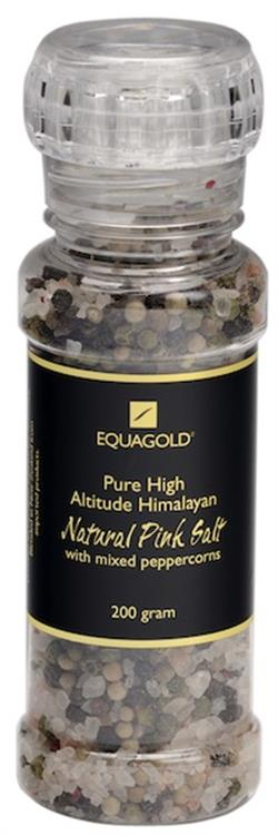 Equagold Himalayan Pink Salt & Mixed Peppercorn 200g
