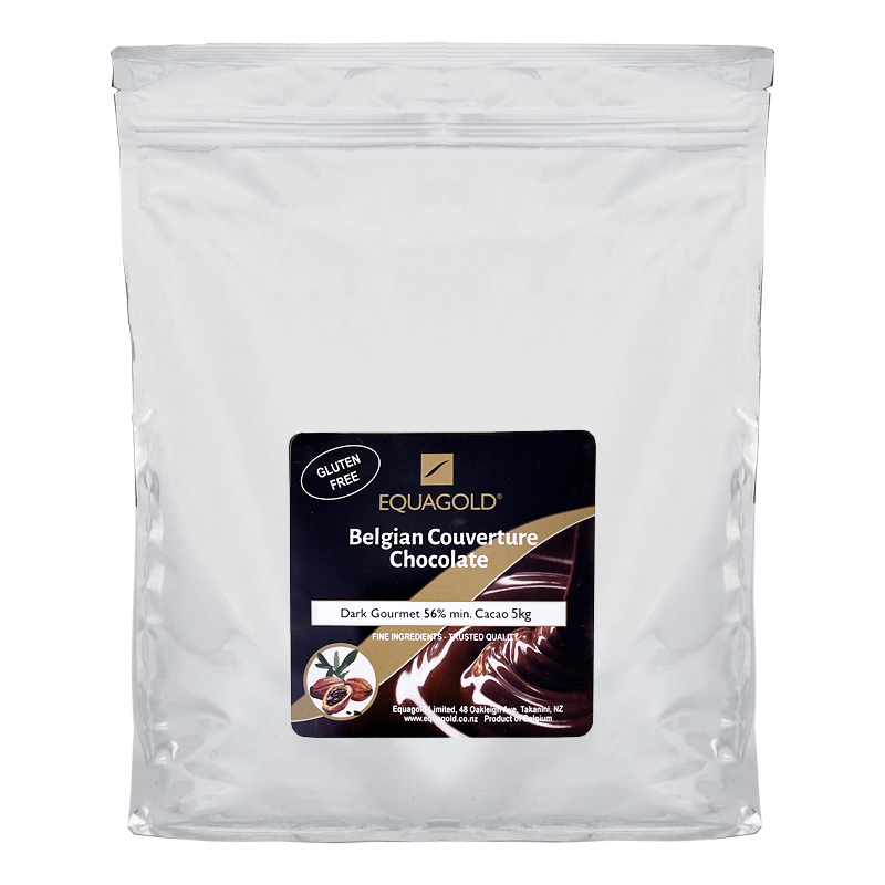Equagold Belgian Courverture 56% Dark Chocolate 5kg