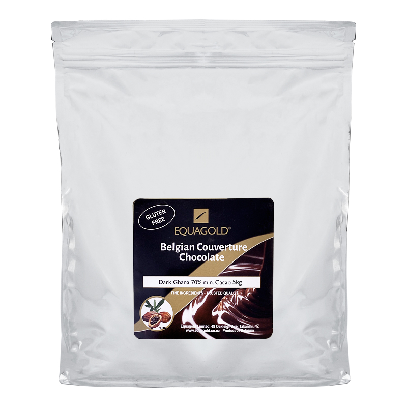 Equagold Belgian Couverture 70% Dark Chocolate 5kg