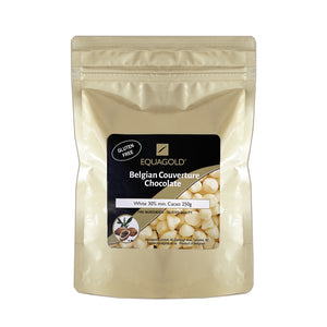 Equagold Belgian Couverture 30% White Chocolate 250g