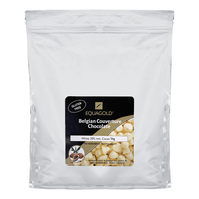 Equagold Belgian Couverture 30% White Chocolate 5kg