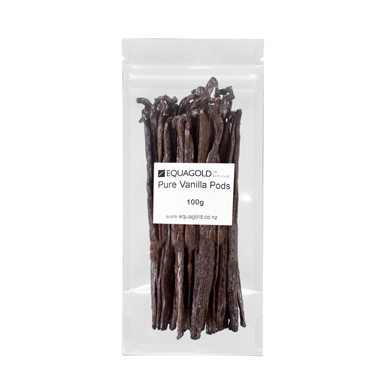 Load image into Gallery viewer, Equagold Pure Vanilla Pods 100g