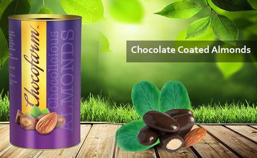 Chocofarm chocolate confection coated (covered)Roasted crunchy  Almonds