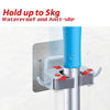 198 Wall Mounted Mop & Broom Hanger Holder (1-Layer)