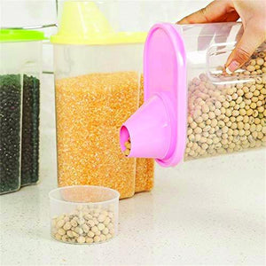 0603 Cereal Storage Container With Measuring Cup For Kitchen Storage