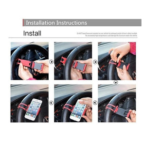 268 Universal Car Steering Wheel Phone Holder