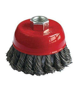 195 Wire Wheel Cup Brush (Black)