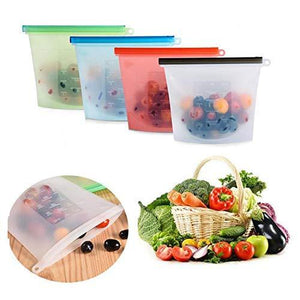 1080 Reusable Silicone Airtight Leakproof Food Storage Bag - 1 ltr - DeoDap