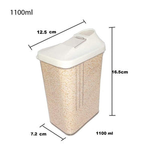 149 Plastic Transparent Cans, Jars Storage Bottles, Storage Box (1100 ml, 1pc)