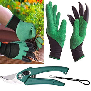 Mitra.Today Gardening Tools - Garden Gloves with Claws for Digging and Planting, 1 Pair Ergonomic Grip, Incredibly Sharp Secateurs