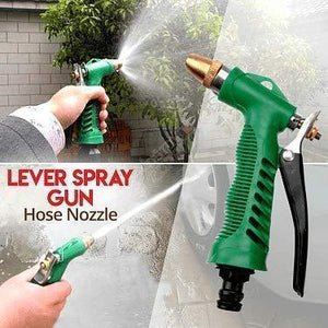 Your Brand Gardening Tools - Water Lever Spray Gun | Cultivator, Small Trowel, Garden Fork | Pressure Garden Spray Bottle | Flower Cutter | Yellow Gloves