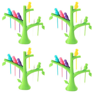 Your Brand'S Fancy Bird Fork, Attractive On Table and Ideal Fork for Eating Fruits(Pack of 4)