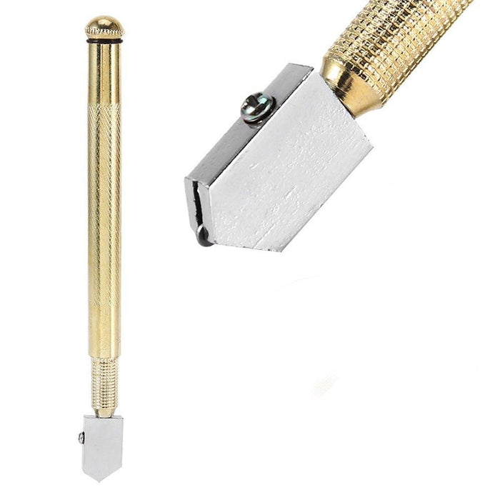 0458 Metal Glass Cutter, Gold - DeoDap