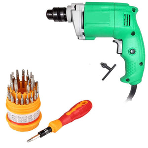 Your Brand 31in1 10mm 2600 Rpm, 220V- 50Hz Electric Drill Machine with Magnetic Screw Driver