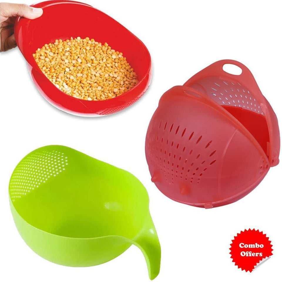 Your Brand Kitchen combo - Plastic Servig Bowl Set (3pcs, Multicolor)