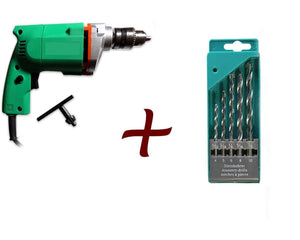 Your Brand Metal Electric Drill Machine Set (Multicolor, 6-Pieces)